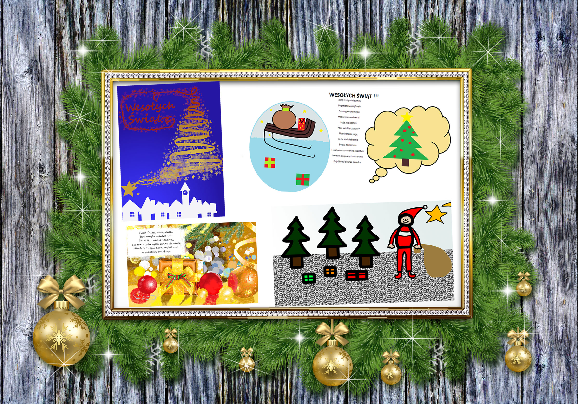 """Najpiękniejsze kartki świąteczne dotarły już do Naszego Liceum! – """"Gminny konkurs informatyczny na najpiękniejszą kartkę Bożonarodzeniową – z tradycją w tle"""" rozstrzygnięty!"""